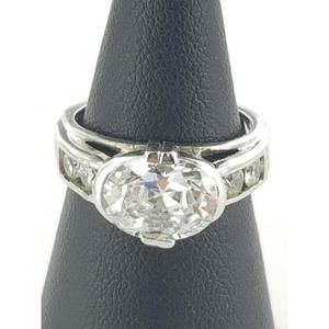 Women's Sterling Silver 925 Ring with White Stones
